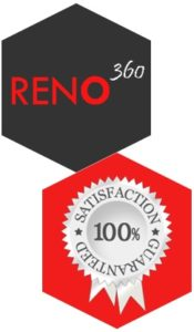Reno360 Singapore Office, Commercial, Retail & Home Renovation Satisfaction Badge