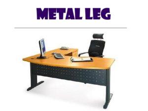 L shape table - metal leg 2