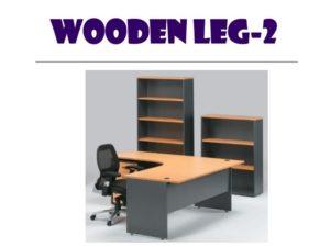 L shape table - wooden leg 2