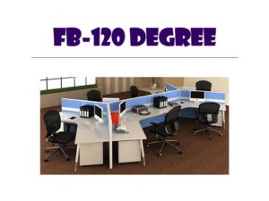 Panel System Furniture - Model FB-120-Degree