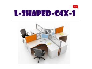 Panel System Furniture - L Shape C4X1