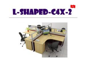 Panel System Furniture - L Shape C4X2