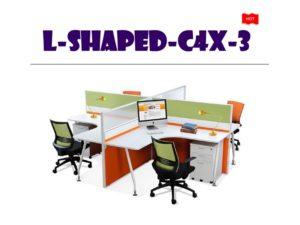 Panel System Furniture - L Shape C4X3
