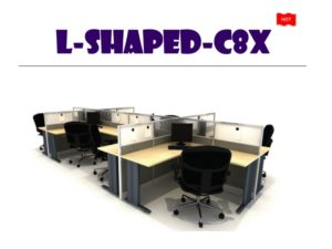 Panel System Furniture - L Shape C8X