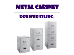 Metal Office Cabinet - Drawer Fililing