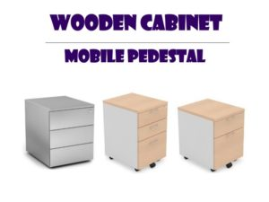 Wooden Office Cabinet - Mobile Pedestal