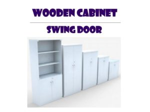 Wooden Office Cabinet - Swing Door
