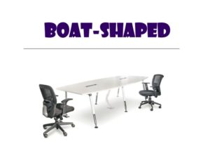 Conference Table - Boat Shape Table  with chairs