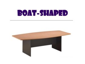 Conference Table - Boat Shape Table