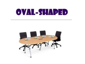 Conference Table - Oval Shape Table with Chairs