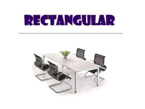 Conference Table - Rectangular Table with chairs