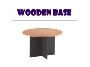 Conference Table - Round black wooden base