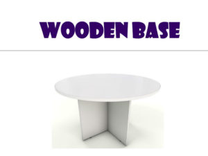 Conference Table - Round white wooden base