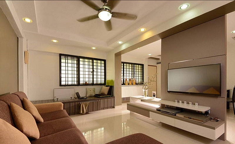 Hdb 4 room living room design home design for Interior design 4 room