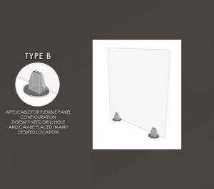 Acrylic Sneeze Guard Type B
