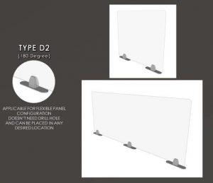Acrylic Sneeze Guard Type D2